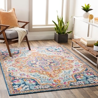 Link to Anu Vibrant Boho Medallion Area Rug Similar Items in Rugs