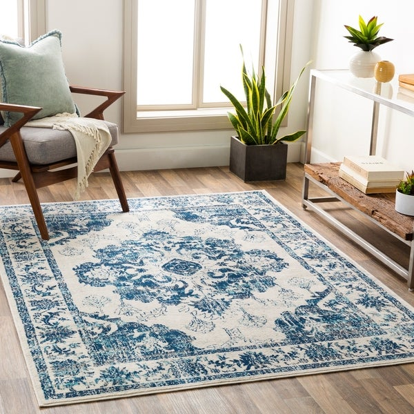 The Curated Nomad Bellflower Distressed Oriental Area Rug