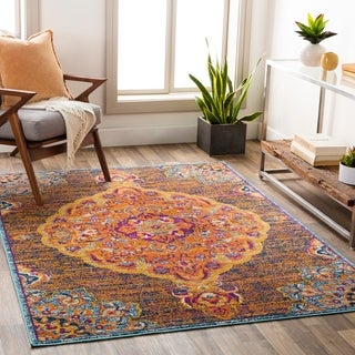 Link to Okeefe Vibrant Floral Medallion Area Rug Similar Items in Rugs