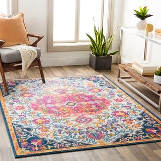 Link to The Curated Nomad Devonshire Distressed Boho Medallion Area Rug Similar Items in Rugs