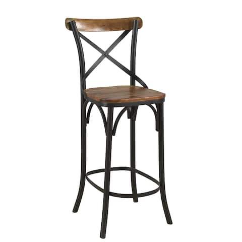 Lohan Cross-Back Bar Chair (Set of 2)