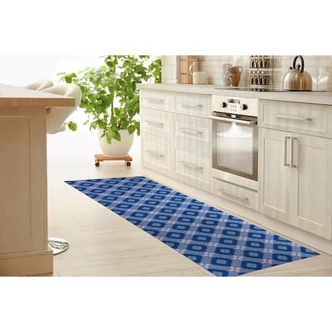 COTTON CANDY BLUE Kitchen Runner By Terri Ellis