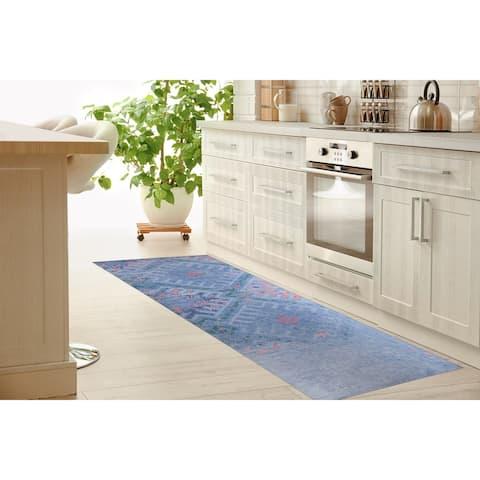 EMMA BLUE Kitchen Runner By Terri Ellis
