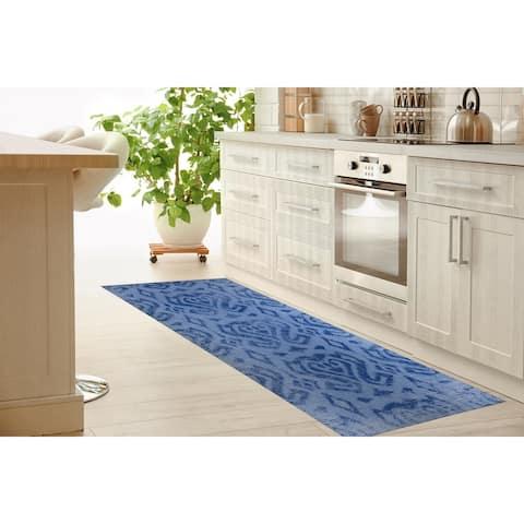 ANNA BLUE Kitchen Runner By Terri Ellis