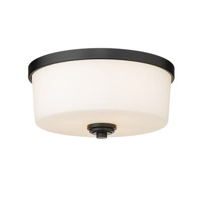Arlington 3 Light Flush Mount - Matte Black