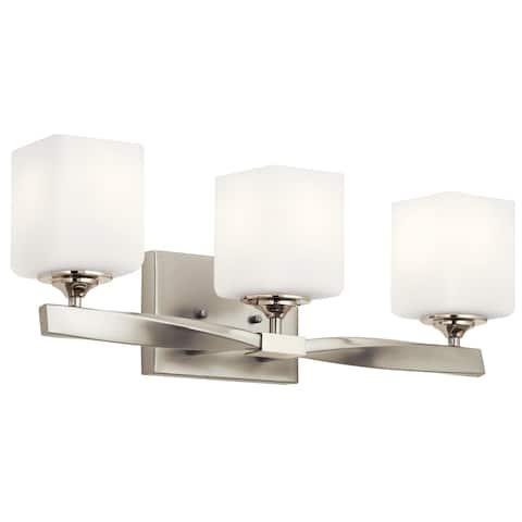 Kichler Lighting Marette 3-Light Vanity Light Brushed Nickel