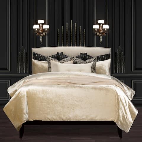 Golden Hours Luxury Gold Velvet Supreme Duvet Cover and Insert Set