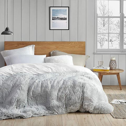 Coma Inducer Duvet Cover - Are You Kidding - Glacier Gray/White