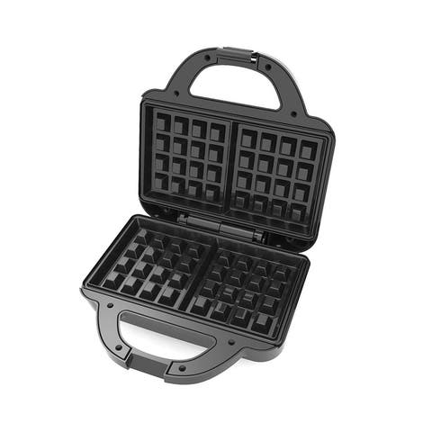 Brentwood TS-239BK Couture Purse Non-Stick Dual Waffle Maker - N/A