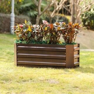 Link to Metal Rectangular 31.5in.x12in. Garden Bed Similar Items in Outdoor Decor