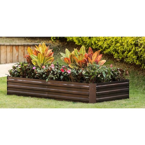 Metal Rectangular 6ftx3ft Garden Bed