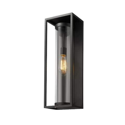 Dunbroch 1 Light Outdoor Wall Sconce - Black