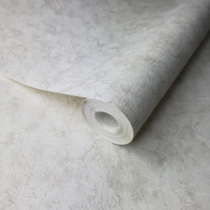Overstock Wallpaper gold metallic cracks ivory plaster Plain Textured