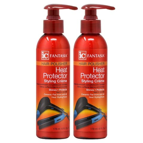 Fantasia Heat Protector Styling Crème 178ml/6oz (Pack of 2)