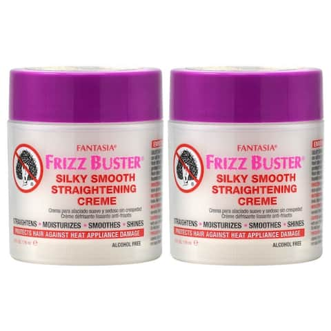 Fantasia Frizz Buster Silky Smooth Straightening Crème 178ml/6oz (Pack of 2)
