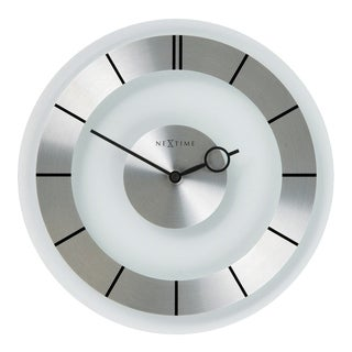 Link to Unek Goods NeXtime Retro Wall Clock in Glass and Stainless Steel, Round, Battery Operated Similar Items in Decorative Accessories