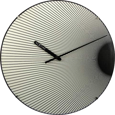 Unek Goods NeXtime Rays Dome Wall Clock, Round, Luminous, Glass, Battery Operated