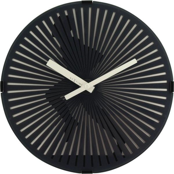 Unek Goods NeXtime Motion Running Man Wall Clock, Round, Plastic, Black, Battery Operated