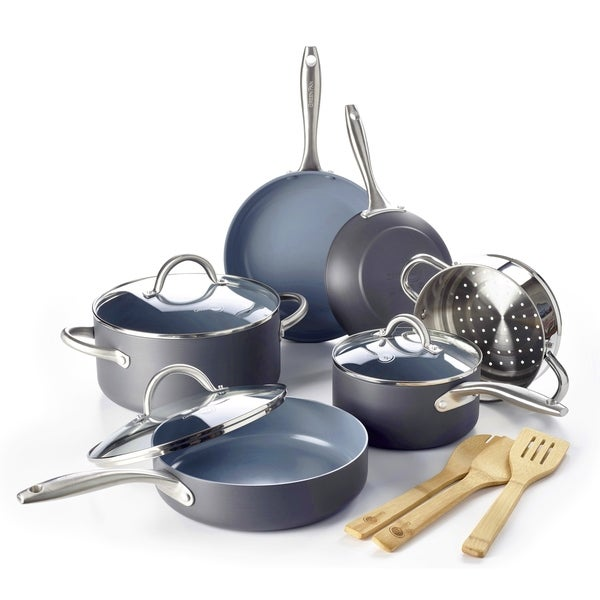 Lima Ceramic Non-stick 12-piece Cookware Set. Opens flyout.