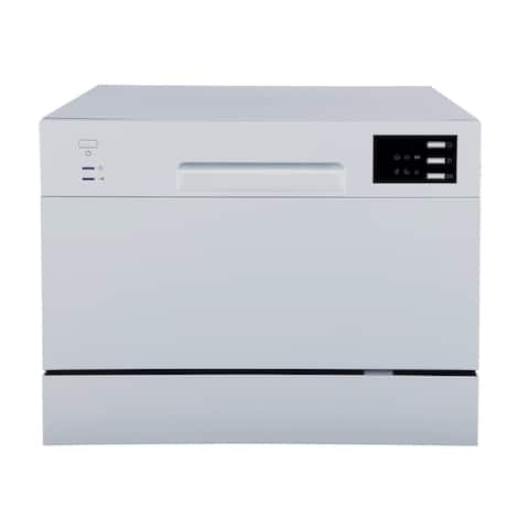 Energy Star Countertop Dishwasher with Delay Start & LED, Silver