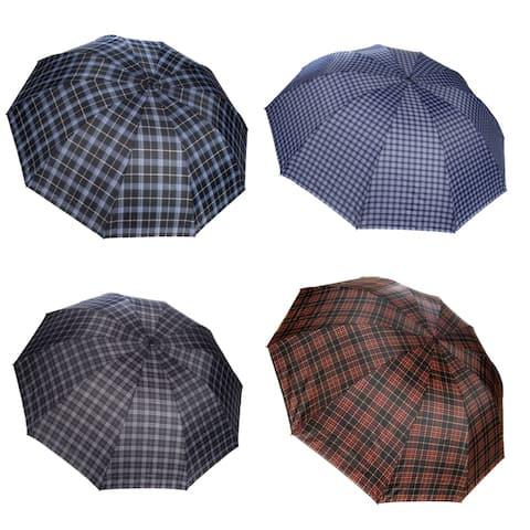 Light weight Compact Portable UV Protection Plaid Umbrella - Medium