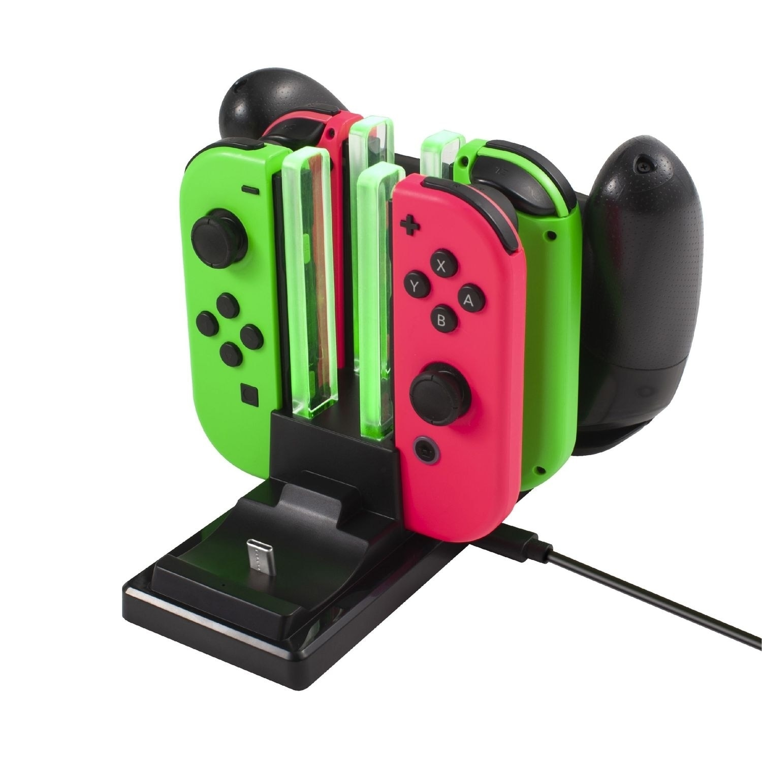 Shop For Switch Controller Charger 6 In 1 Charging Dock For Nintendo Switch Pro Controller Joy Con W Usb Type C Cable By Insten Overstock 30753708