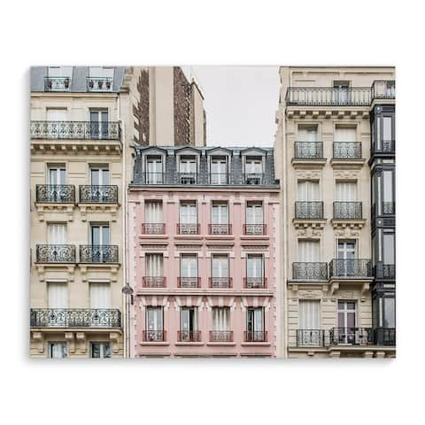 THE PINK APARTMENT BUILDING, PARIS Canvas Art By Kavka Designs