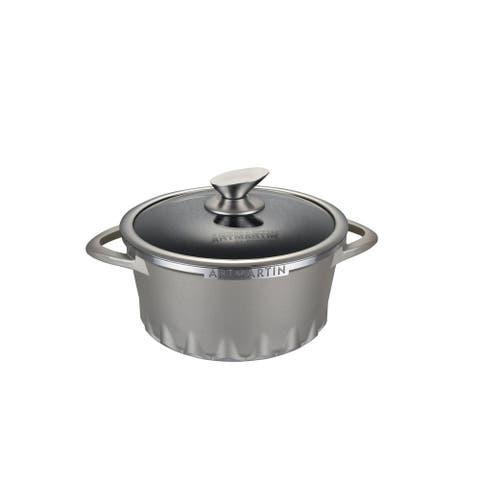 ARTMARTIN Non-Stick Ceramic Coated Stockpot & Glass Lid - 8.7 in