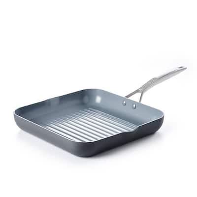 Paris Pro Ceramic Non-Stick Square Grill Pan with Spouts - 11''