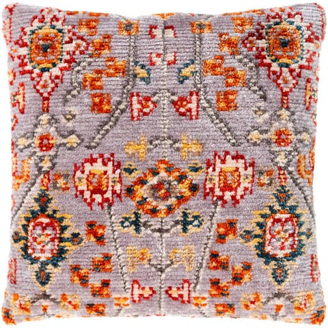 Sal Boho Floral Polyester 21-inch Throw Pillow