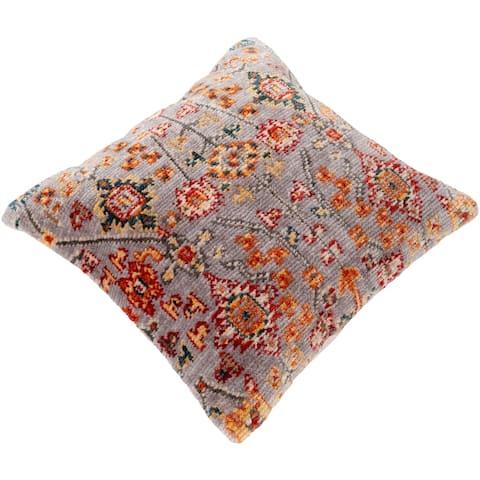Sal Boho Floral Polyester 27-inch Floor Throw Pillow