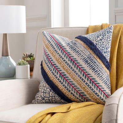 Apala Striped Block Print Throw Pillow