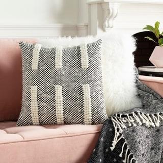 Hadrea Handwoven Checkered Boho Throw Pillow