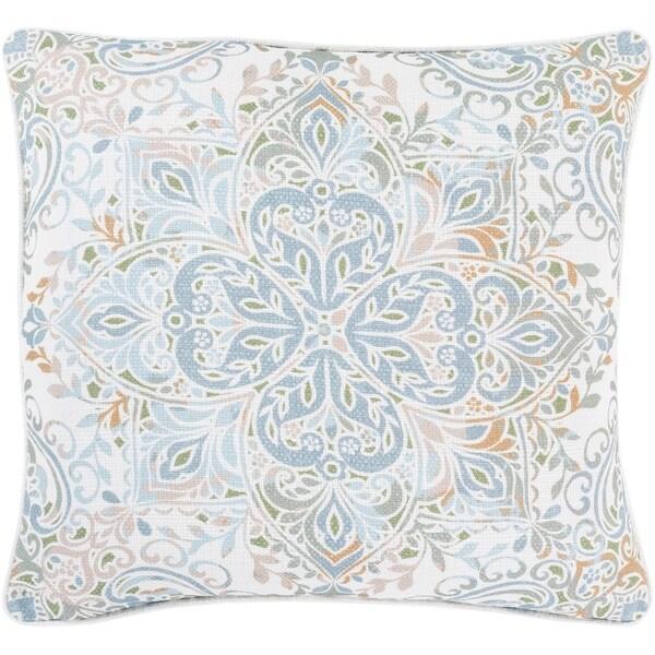 Remsen Printed Pastel Medallion 20-inch Throw Pillow