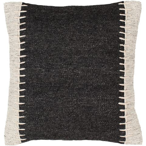 Nixa Stitched Wool 20-inch Throw Pillow