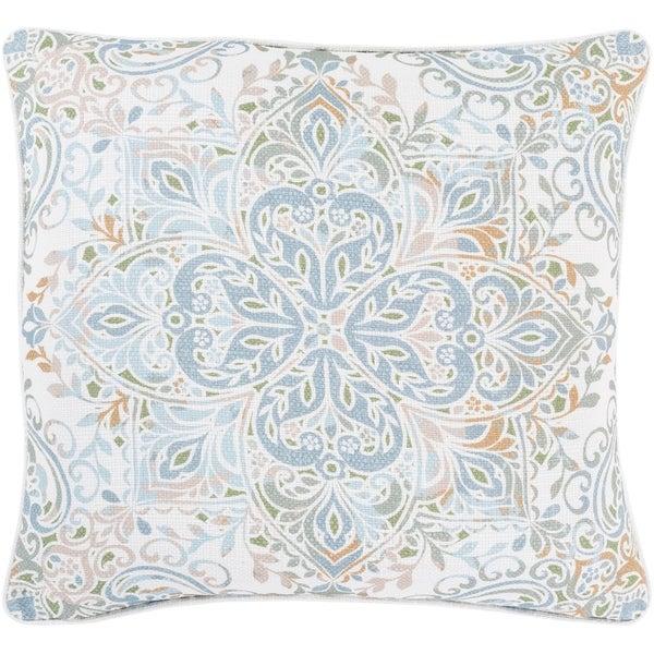 Remsen Printed Pastel Medallion 18-inch Throw Pillow