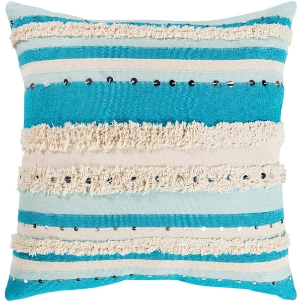 Talco Shaggy Bohemian 22-inch Throw Pillow