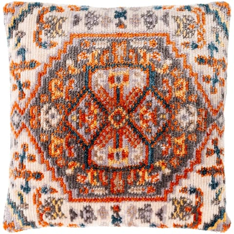 Sal Polyester Boho Medallion 21-inch Throw Pillow