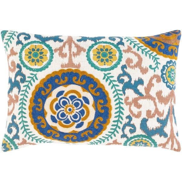 Tiro Embroidered Mandala 14x20-inch Lumbar Throw Pillow