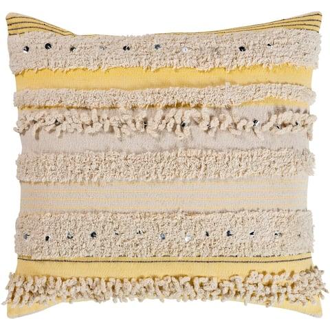 Talco Shaggy Boho Stripe 20-inch Throw Pillow