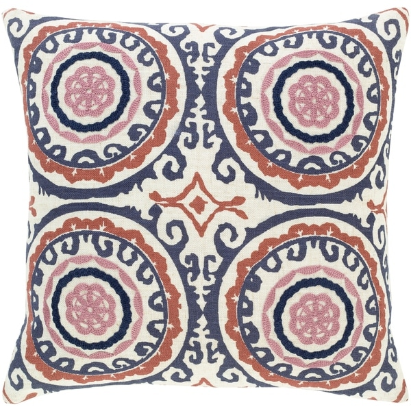 Tiro Embroidered Medallion 18-inch Throw Pillow. Opens flyout.