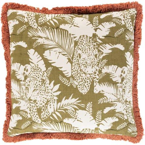 Tabora Jungle Cat Throw Pillow