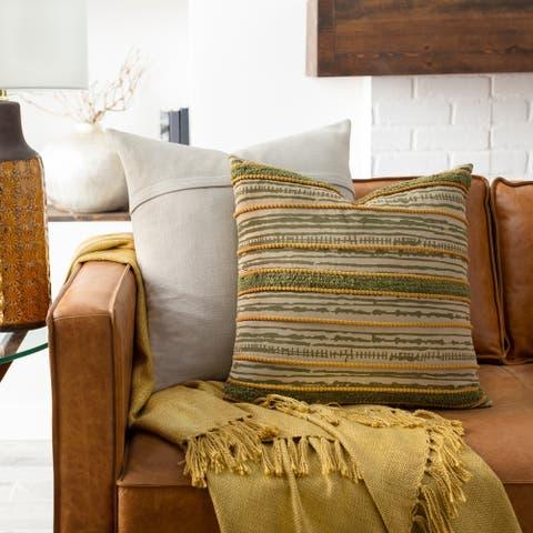 Tabora Patchwork Stripe Throw Pillow