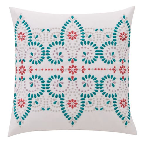 VCNY Home Scarlet Embroidered Damask Decorative Pillow
