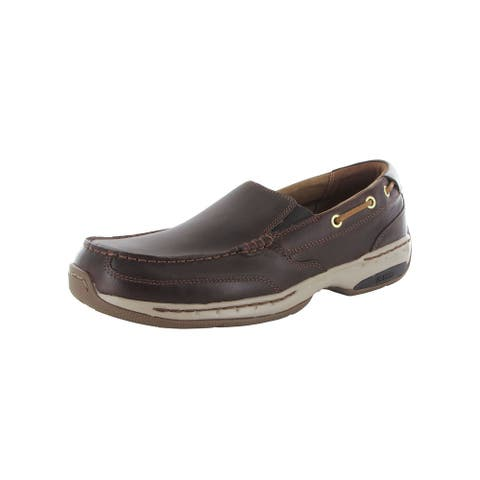Dunham Mens Waterford Slip On Leather Boat Shoes