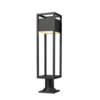 Link to Barwick 1 Light Outdoor Pier Mounted Fixture - Black Similar Items in Pier Mount Lights