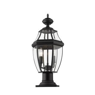 Link to Westover 2 Light Outdoor Pier Mounted Fixture - Black Similar Items in Pier Mount Lights