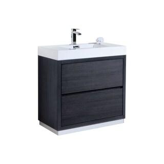 """Link to Bliss 36"""" Gray Oak Free Standing Modern Bathroom Vanity Similar Items in Bathroom Vanities"""
