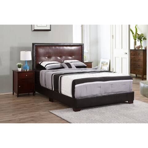 Panello Bed with Faux Leather Upholstery