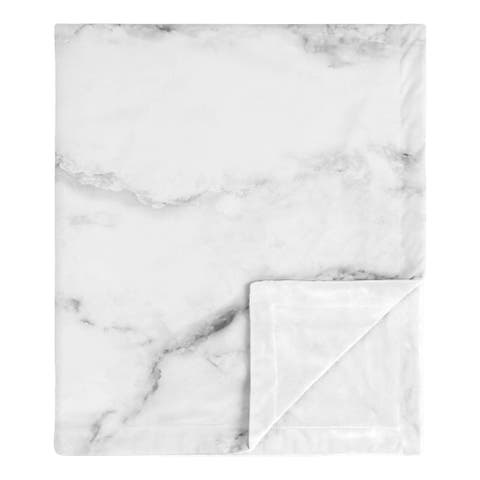 Marble Collection Boy or Girl Baby Receiving Security Swaddle Blanket - Grey, Black and White